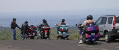 Bikes on top of Brockway Mountain